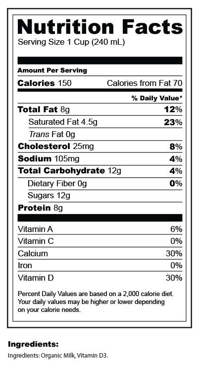 2 Organic Milk Nutrition Facts - Nutrition Ftempo