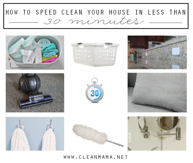 How to Speed Clean Your House in Less Than 30 Minutes + FREE ...