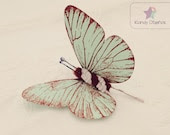 Butterfly bobby pin. Mint Butterflies hair clip Bridal Bridesmaid hair. Butterfly hair, Butterfly Wedding butterfly hair monarch butterfly - KandyDisenos