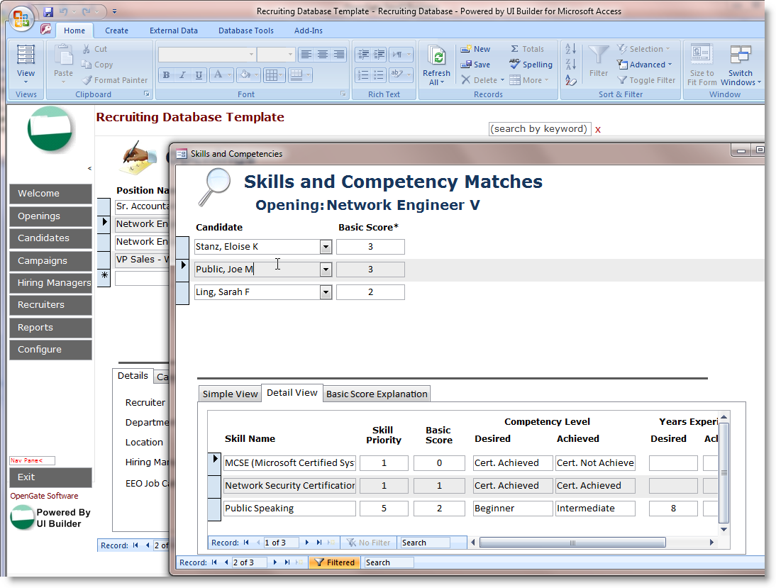 Template | Formats | Form | Download free: Microsoft Access