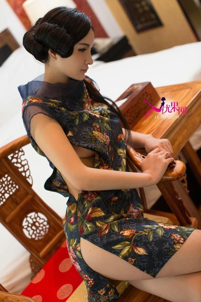 Ngất ngây với vòng một ngoại cỡ của Beauty Gu Xin Yi (顾欣怡) trong bộ ảnh UGIRLS 106