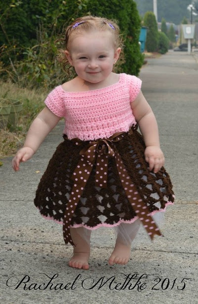 Crochet Isabella Dress - Free Pattern - Size 12 Months