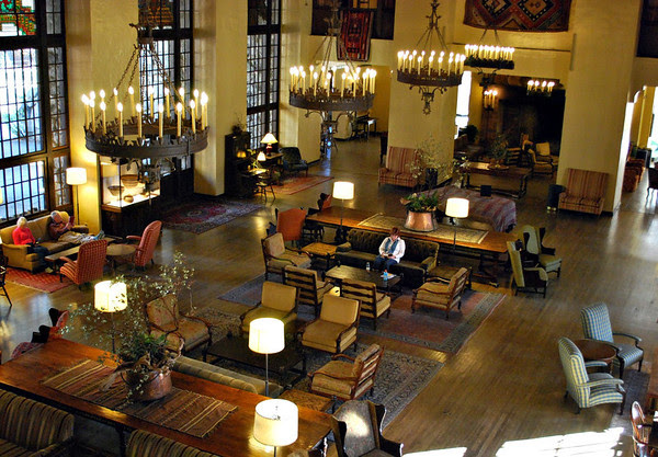 The Great Lounge of the Ahwahnee Hotel