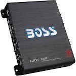 BOSS Audio - Riot 1100W Class AB Mono MOSFET Amplifier with Variable Low-Pass Crossover - Black