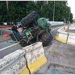 Un tracteur renversé à l'entrée de Colmar