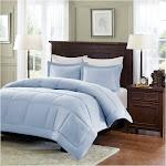 Madison Park - Sarasota Microcell Down Alternative Comforter Mini Set - Blue - Twin