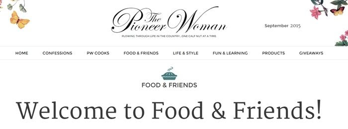 the pioneer woman food & friends