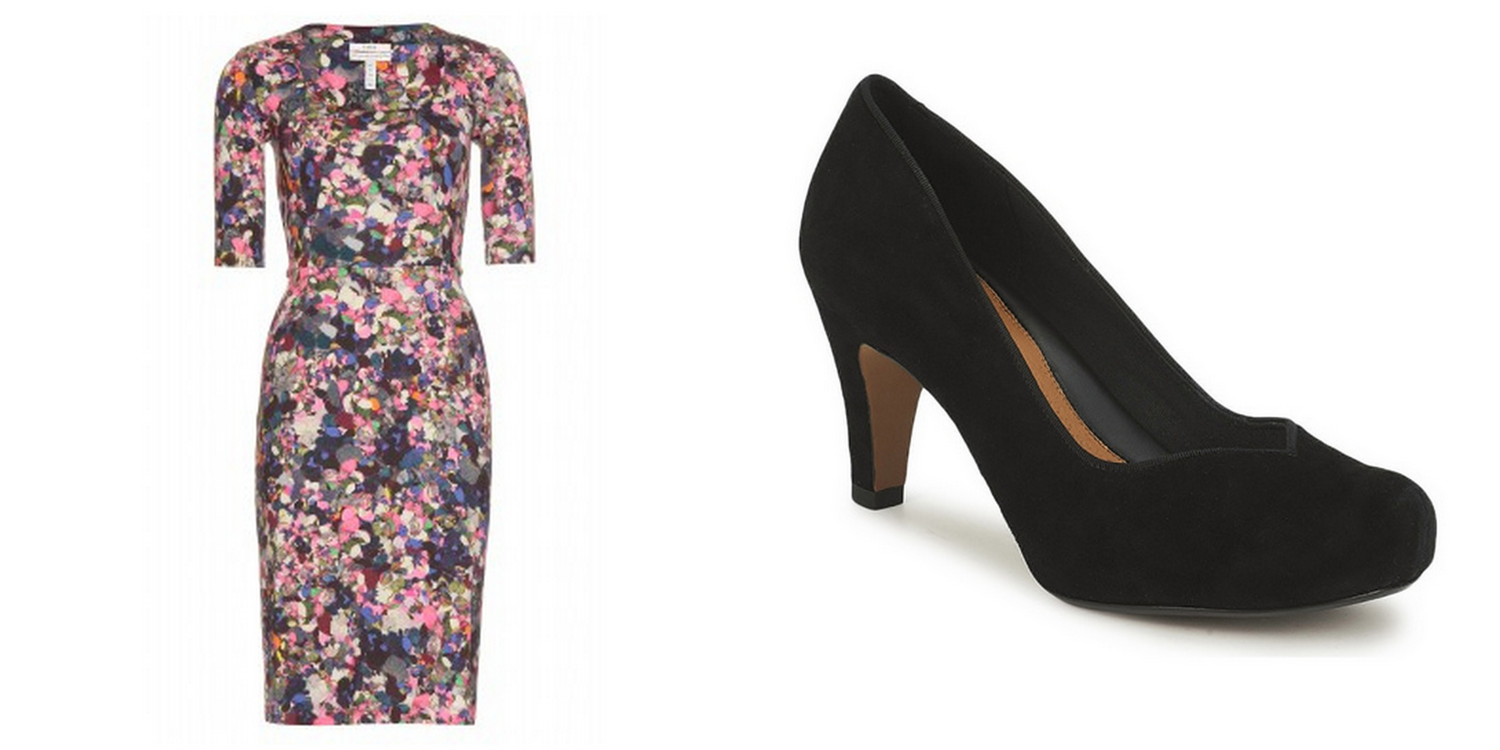 Erdem Dress and Clarks Shoes