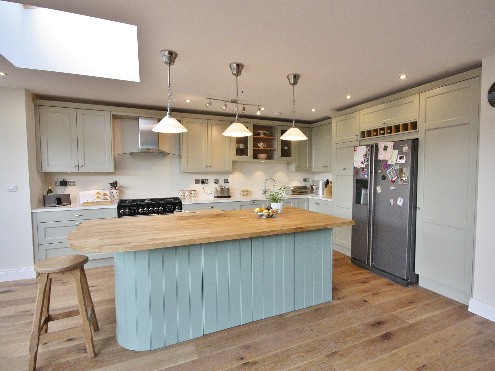 Farrow and Ball Hardwick White on painted Modern Country Kitchen