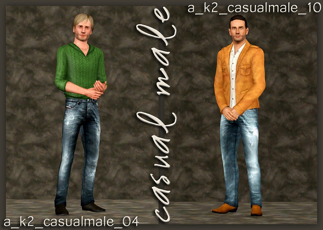Casual Male - Poses 04 and 10