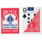 Bicycle, pinochle Jumbo Index Playing Cards, Colors May Vary (Red or Blue)