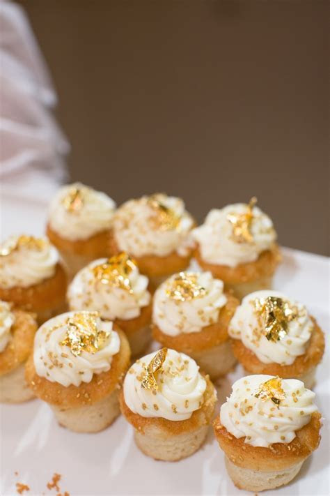 Cakes & Desserts Photos   Vanilla Cupcakes with Gold