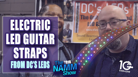 DC's LEDs Electric Guitar Straps Bring Life to Your Instrument | Geekazine.com