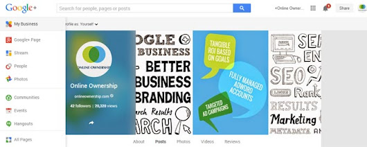 Google+ Page Insights for Brands, Organisation Pages - Online Ownership