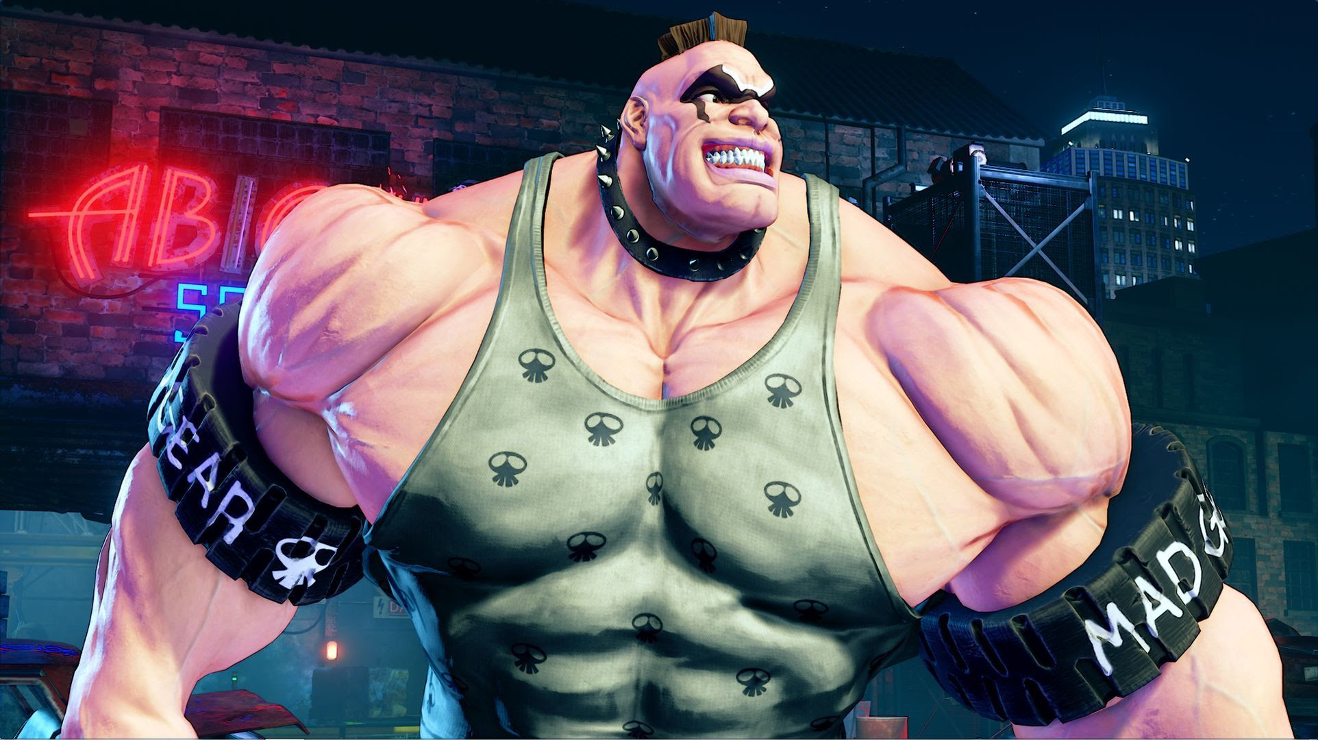 Abigail may look ugly, but he seems to have a lot of potential in Street Fighter V screenshot