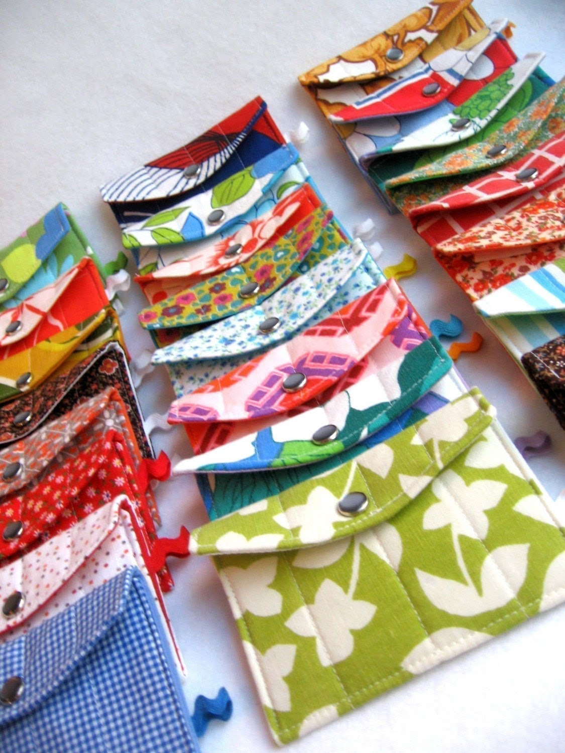 design your own eco friendly quilty wallet / business card holder