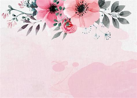 Hand Painted Watercolor Flower New Autumn Poster
