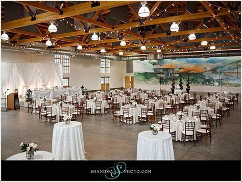 Beautiful wedding at #yeg Blatchford Air Hangar. Wedding
