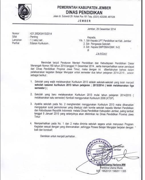Kop Surat Dinas Pendidikan Kabupaten Jember - Contoh Kop Surat