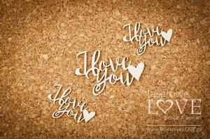 Tekturka - Napis I love You - Simple Wedding