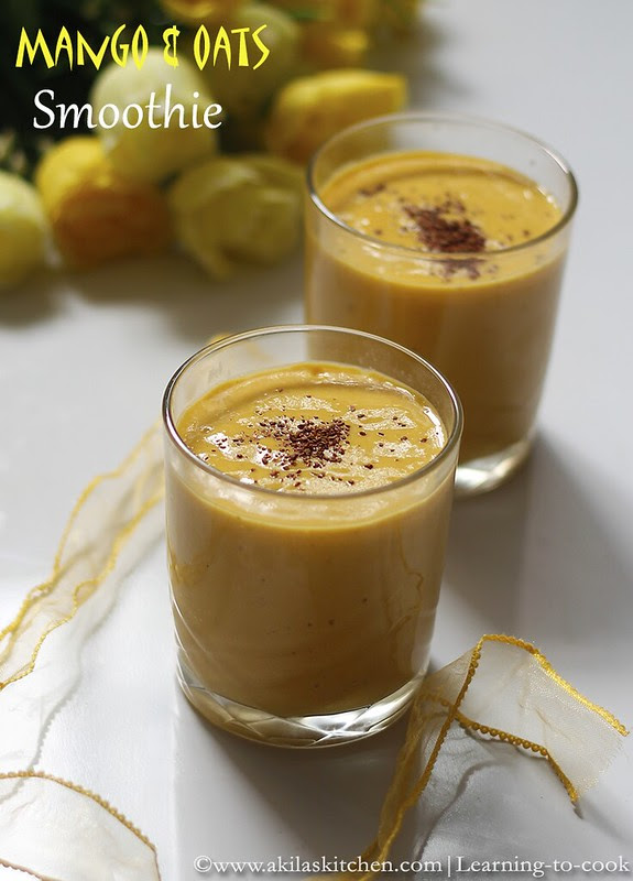 Oats and Mango Smoothie