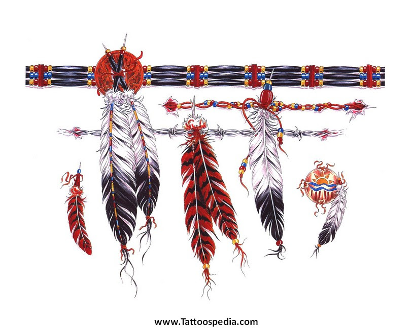 Feathers Armband Tattoo Design