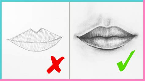 dos donts   draw realistic lips  mouth step