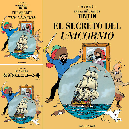TINTIN / The Secret of the Unicorn – available in English, Japanese and Spanish!