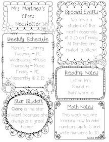 1000+ ideas about Class Newsletter Template on Pinterest | Weekly ...