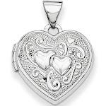 14k White Gold Heart Locket by jewelryshopping.com