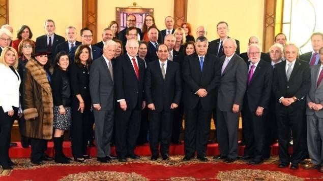 """il dittatore egiziano al-Sisi si incontra con i leader di Israele Hall dopo aver lodato Netanyahu per la sua """"leadership"""" del mondo."""
