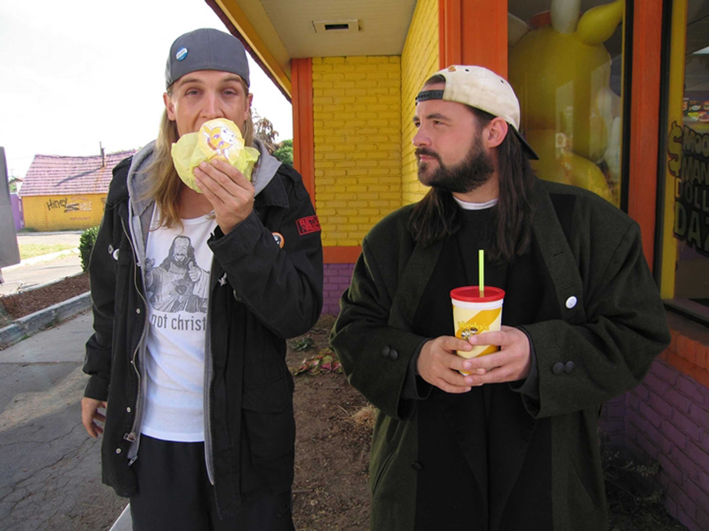 Jay And Silent Bob Kevin Smith Jason Mewes 2400x1800 Wallpaper