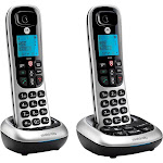 Motorola - MOTO-CD4012 Expandable Cordless Phone System with Digital Answering System - Black