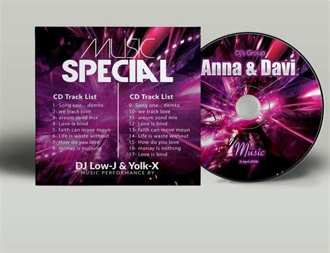 Music CD Cover Psd Template ~ Stationery Templates