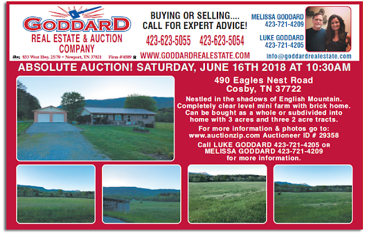 GODDARD REAL ESTATE & AUCTION - ABSOLUTE AUCTION - SATURDAY, JUNE 16th @ 10:30 AM - AuctionsAcrossTN.com