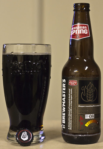 Review: Okanagan Spring Brewmaster's Black Lager by Cody La Bière