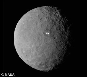 The scientists believe this was delivered to the star by a large asteroid, similar in size to Ceres (shown) in our own solar system, about 560 miles (900km) across