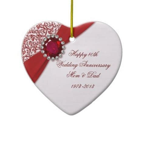 1000  ideas about Ruby Wedding Anniversary Gifts on