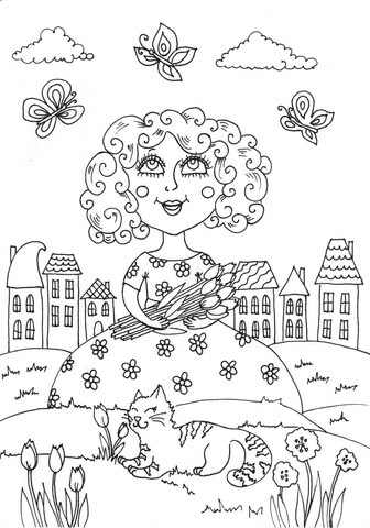 peppy in may coloring page  free printable coloring pages
