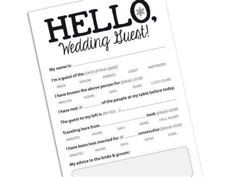 Funny Wedding Guest / Marriage Advice Card for by