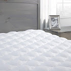 eLuxurySupply - Pressure Relief Mattress Pad with Fitted Skirt