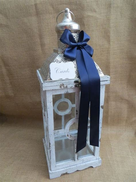 Pick your ribbon color   Large Nautical Wedding Lantern
