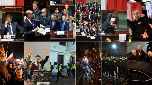 Od buntu opozycji do starć przed Sejmem. Co się wydarzyło minionej nocy
