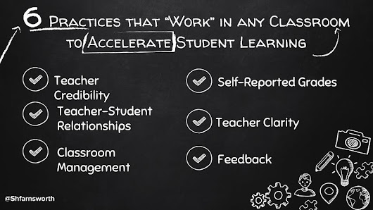"6 Practices that ""Work"" to Accelerate Student Learning"
