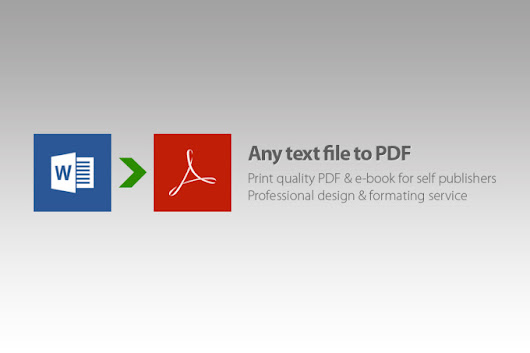 I will create professional PDF ebook for self publishing
