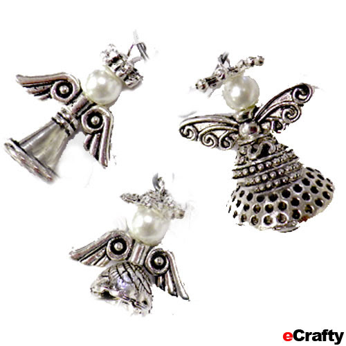 DIY Bali Style Beaded Angel Charms Recipe from eCrafty.com