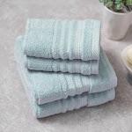 Charisma Bumpy Rib 4-Piece Hand/Wash Towel Set, Blue