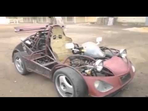Intelligent Man Builds A Car Out Of Scraps He Found Laying Around! | CreativemindsUK - Music Production, Visual Arts and Innovative Design