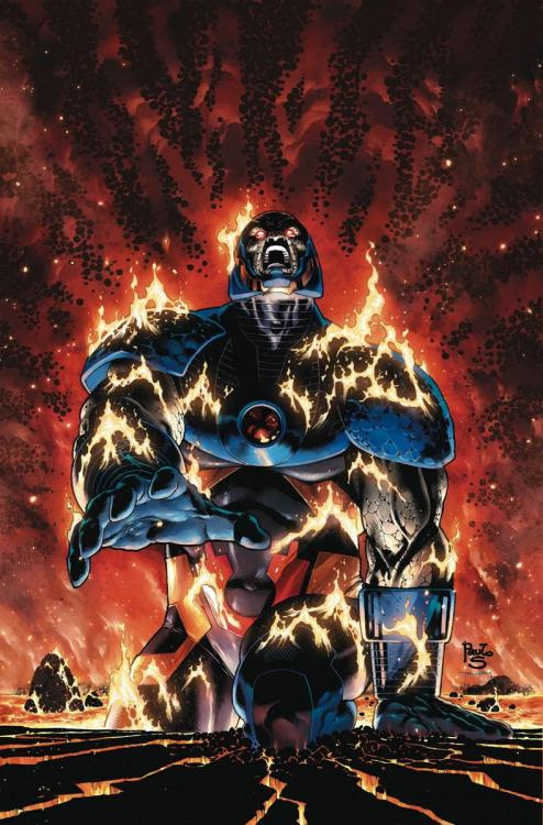 Darkseid returns in Earth 2 - World's End #10. Cover by Paolo Siqueira.