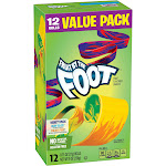 Fruit By The Foot Fruit Flavored Snacks Value Pack - 12 pack, 0.75 oz each
